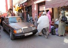 马拉喀什路 免版税库存照片