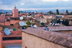 马拉喀什都市风景  免版税库存图片