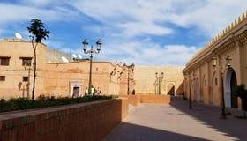 马拉喀什麦地那市墙壁-老被加强的城市 免版税图库摄影