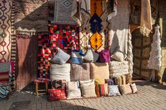 马拉喀什,摩洛哥,非洲Souks  免版税库存照片