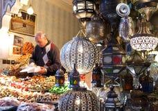 马拉喀什Souks,摩洛哥 免版税库存图片