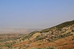马拉喀什自然风景在摩洛哥,非洲 沙漠和山 旅行摩洛哥 旅行癖 库存图片
