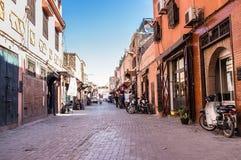 马拉喀什街道 免版税库存照片
