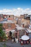 马拉喀什,摩洛哥屋顶和房子  库存照片