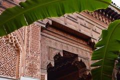 马拉喀什,摩洛哥2016年3月3日:El巴伊亚宫殿由从所有世界的游人参观 它是东部建筑学的例子 库存图片