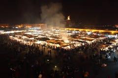 马拉喀什Jemaa El Fna地方 免版税库存照片