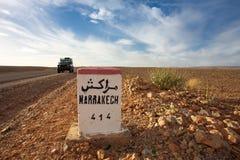 马拉喀什414 km 免版税库存照片