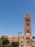 马拉喀什Koutoubia清真寺和塔 免版税图库摄影