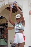马拉松优胜者,妇女的竞争,哈瓦那2005年 库存图片