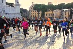 马拉松在罗马,意大利 免版税库存图片