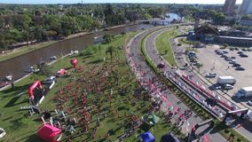 马拉松在蒂格雷市,布宜诺斯艾利斯 免版税库存照片
