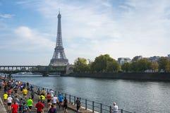 马拉松在巴黎 免版税库存图片