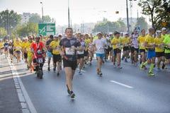 """1/2马拉松布拉格2016年快速地†""""肯尼亚人在华沙 库存照片"""