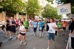 马拉松布拉格 免版税库存图片