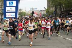 马拉松开始2 免版税库存照片