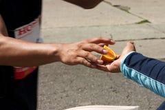 马拉松桔子 免版税图库摄影