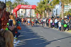 马拉松的主导的妇女 库存图片
