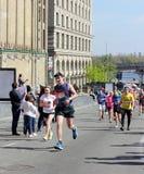 马拉松的终点线 免版税库存照片