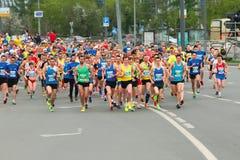 马拉松赛跑 喀山俄国 免版税库存照片