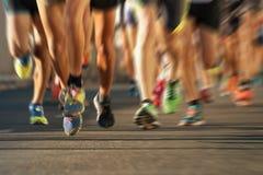 马拉松赛跑 免版税库存图片