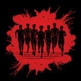 马拉松运动员,跑人的,人跑 免版税图库摄影