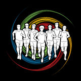 马拉松运动员,跑人的,人跑 库存图片