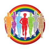 马拉松运动员,跑人的,人跑 库存照片