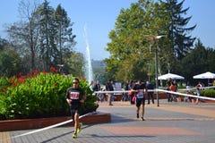 马拉松运动员索非亚南方公园胡同 免版税库存图片