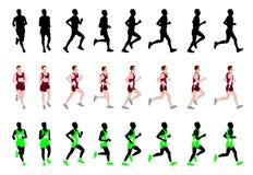 马拉松运动员 库存照片