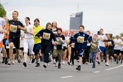 马拉松运动员 免版税图库摄影
