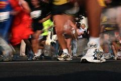 马拉松运行中 免版税库存照片