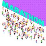 马拉松连续短跑选手 免版税库存照片