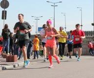 马拉松速度 免版税库存图片