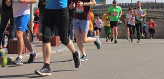 马拉松速度 免版税库存照片
