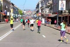 马拉松速度 图库摄影