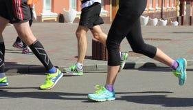 马拉松速度 库存图片