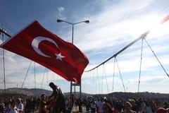 马拉松长跑的人民在伊斯坦布尔 免版税库存图片