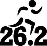 马拉松26 2英里 皇族释放例证