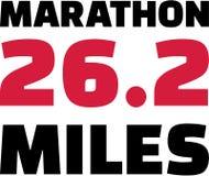 马拉松26 2英里 向量例证