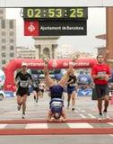 马拉松rothlin赛跑者瑞士viktor 免版税库存照片