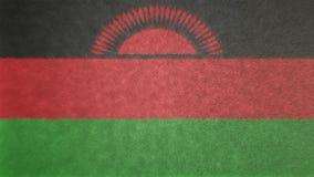 马拉维的旗子的原始的纹理3D图象 库存照片