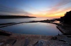 马拉巴尔水池在黎明 免版税库存照片