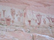 马掌峡谷象形文字 免版税图库摄影