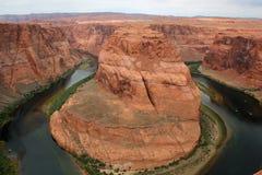 马掌弯在北部亚利桑那 库存图片