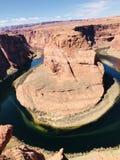 马掌弯页亚利桑那科罗拉多河 库存图片