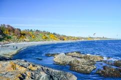 马掌海湾风景看法在信标岗公园附近的 免版税库存图片