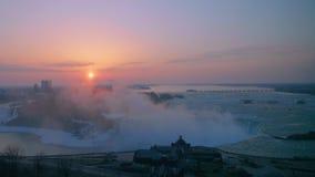 马掌秋天,尼亚加拉瀑布,安大略,加拿大 股票录像