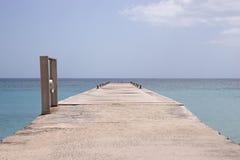 马提尼克岛海岛海和码头 库存图片