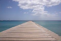 马提尼克岛海岛海和码头 免版税库存照片