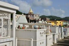 马提尼克岛,美丽如画的市印度西部的Riviere Pilote 免版税库存图片
